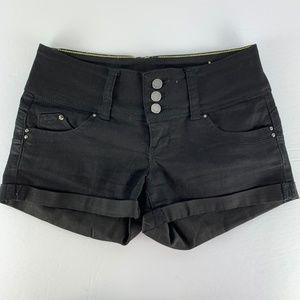 8d94c9fe819bb7 ... YMI Wanna Better Butt Sz 1 Shorts Black High Waist ...